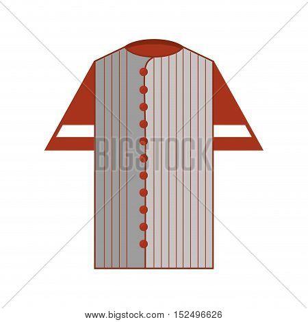 shirt uniform baseball team icon vector illustration design