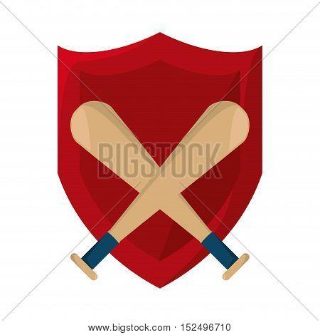baseball bat isolated icon vector illustration design