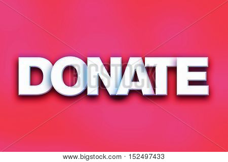 Donate Concept Colorful Word Art