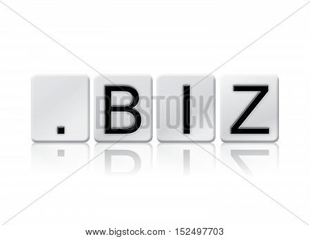 Dot Biz Isolated Tiled Letters Concept And Theme