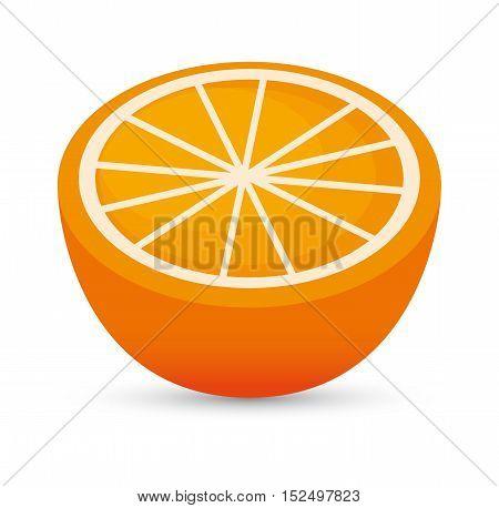 juicy orange sliced healthy food icon design vector illustration eps 10
