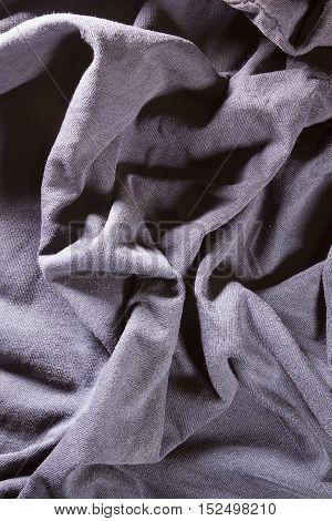 Purple fabric background closeup vertical square image