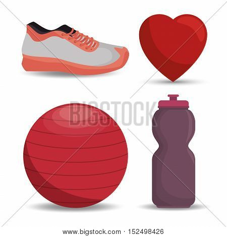 collection equipment work gym vector illustration eps 10