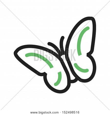 Flying, butterflies, garden icon vector image. Can also be used for spring. Suitable for use on web apps, mobile apps and print media.
