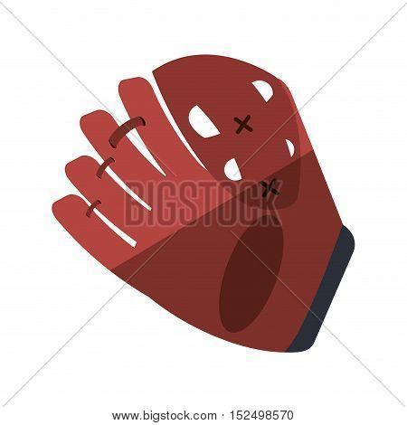 baseball catcher glove isolated icon vector illustration design