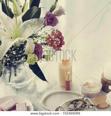 Vogue Vivid Varnish Trendy Elegance Cosmetics Concept