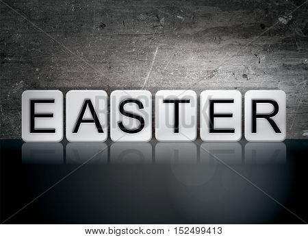 Easter Tiled Letters Concept And Theme