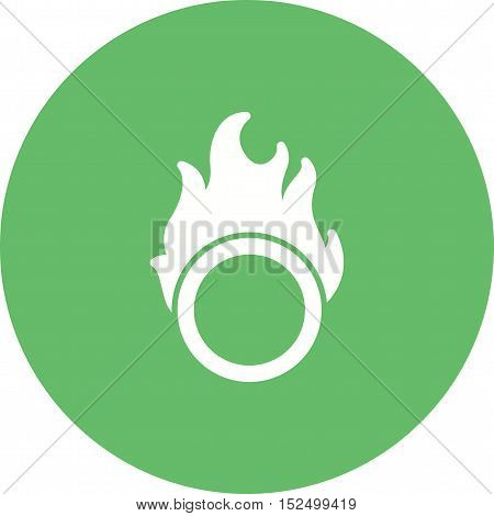 Fire, hoop, circus icon vector image. Can also be used for circus. Suitable for mobile apps, web apps and print media.