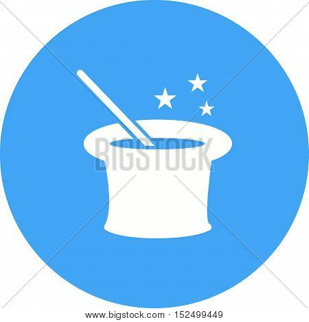 Magic, wand, magician icon vector image. Can also be used for circus. Suitable for mobile apps, web apps and print media.