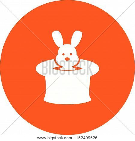 Hat, rabbit, circus icon vector image. Can also be used for circus. Suitable for web apps, mobile apps and print media.