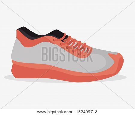 sneaker sport gym icon vector illustration eps 10