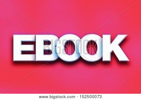 Ebook Concept Colorful Word Art