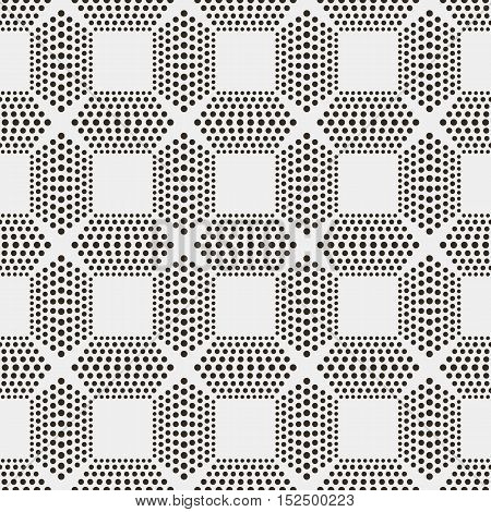 Vector seamless pattern. Modern texture. Repeating abstract background with circles.