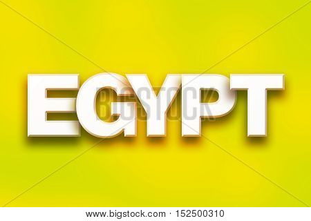 Egypt Concept Colorful Word Art