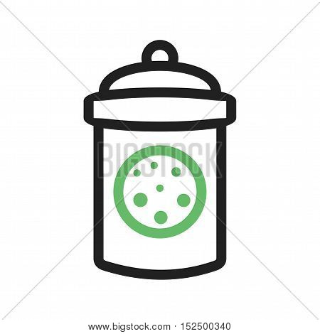 Cookie, sweet, jar icon vector image. Can also be used for coffee shop. Suitable for use on web apps, mobile apps and print media.