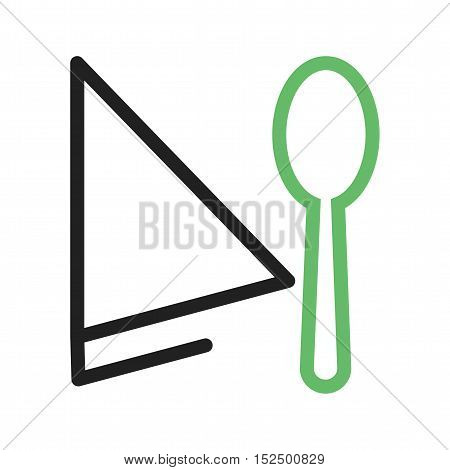 Spoon, fork, napkin icon vector image. Can also be used for coffee shop. Suitable for use on web apps, mobile apps and print media