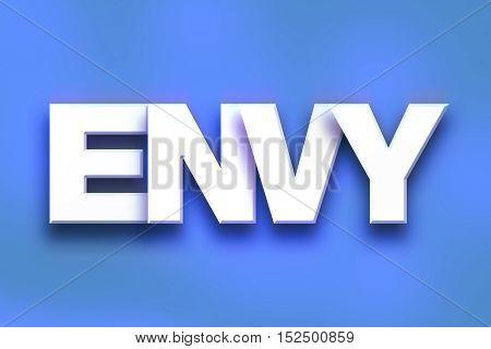 Envy Concept Colorful Word Art