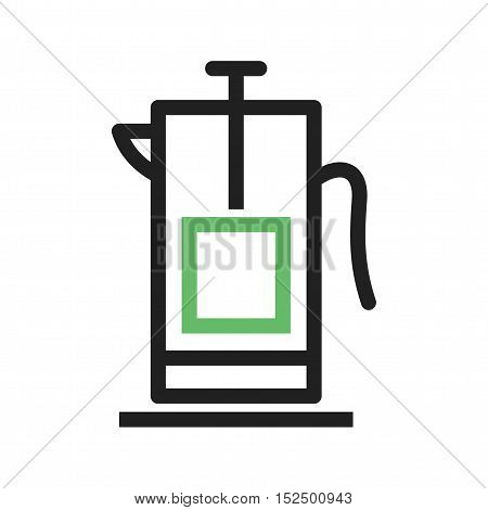 Press, french, coffee icon vector image. Can also be used for coffee shop. Suitable for use on web apps, mobile apps and print media