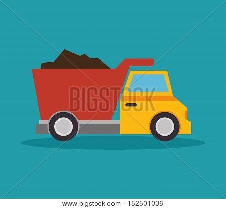 tipper truck construction icon design vector illustration eps 10