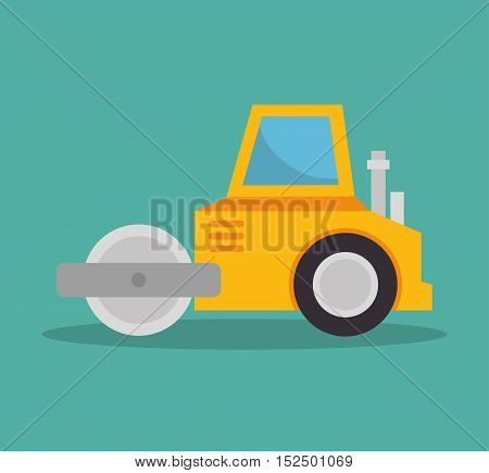 steamroller construction icon design vector illustration eps 10