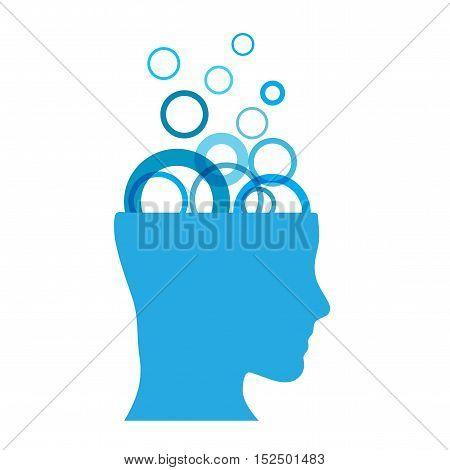 Vector sign brainwashing, illustration isolated in white