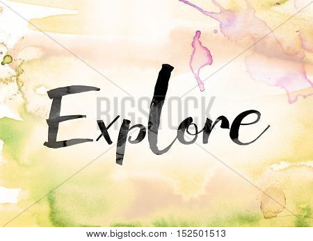 Explore Colorful Watercolor And Ink Word Art