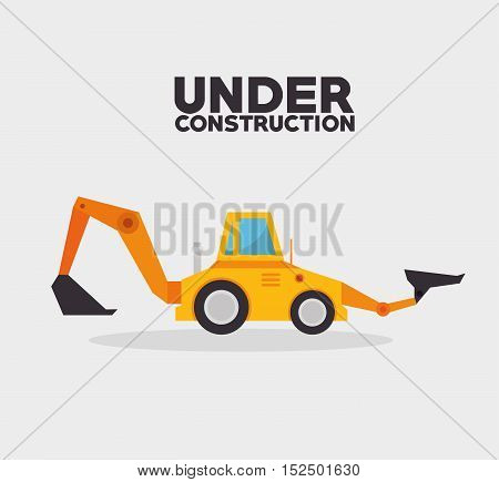 under construction truck machinery vector illustration eps 10