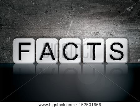 Facts Tiled Letters Concept And Theme