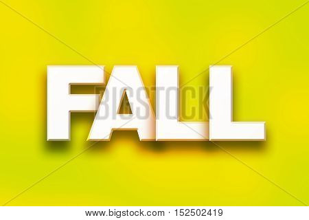 Fall Concept Colorful Word Art