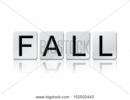 Fall Isolated Tiled Letters Concept And Theme
