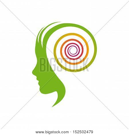 Vector sign dynamic thinking, illustration isolated in white