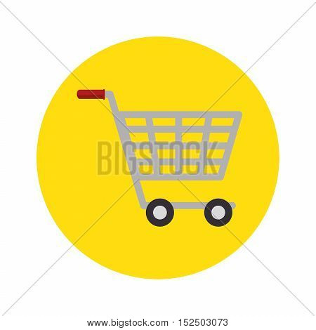 shopping cart concept market buy store icon vector illustration eps 10