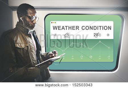 Weather Report Data Meteorology Concept