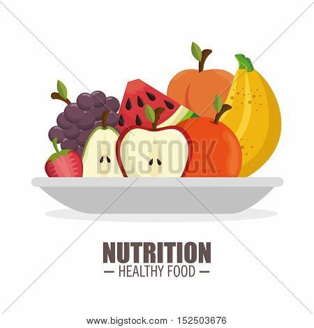 harvest ripe frflatt nutrition healthy food design vector illustration eps 10