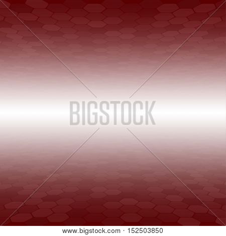 Mosaic Tile Honeycomb Vector Background. Perspective Comb Halftone Fone. Red Background. Vector illustration for Web Design.