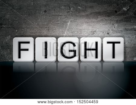 Fight Tiled Letters Concept And Theme