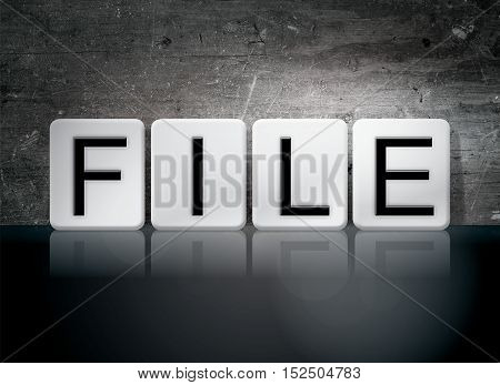 File Tiled Letters Concept And Theme