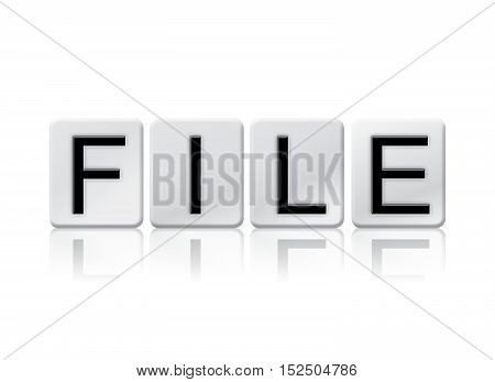 File Isolated Tiled Letters Concept And Theme