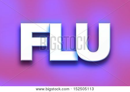 Flu Concept Colorful Word Art