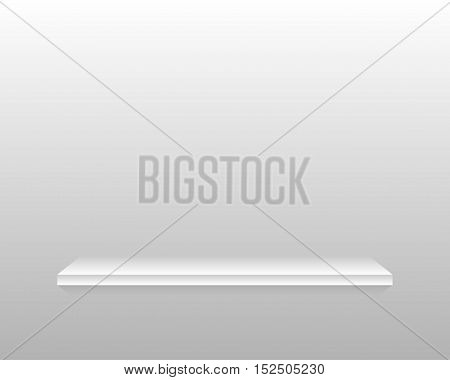Vector abstract background. The empty space on the shelf. Eps 10.