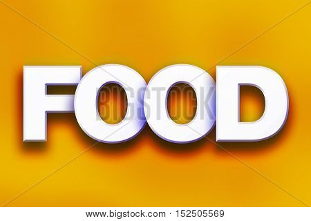 Food Concept Colorful Word Art