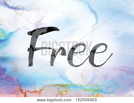 Free Colorful Watercolor And Ink Word Art