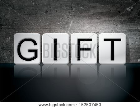 Gift Tiled Letters Concept And Theme