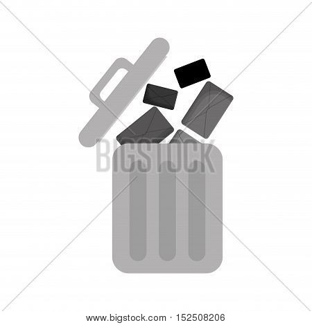 Recycle Bin isolated icon vector illustration design
