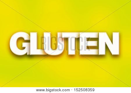 Gluten Concept Colorful Word Art