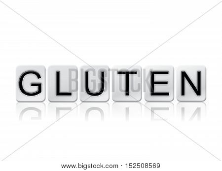 Gluten Isolated Tiled Letters Concept And Theme