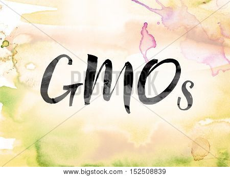 Gmos Colorful Watercolor And Ink Word Art
