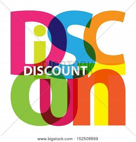 Vector discount. Isolated confused broken colorful text