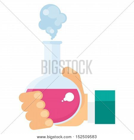 Hand Holding Test Tube