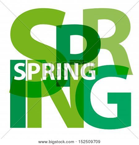 Vector spring. Isolated confused broken colorful text